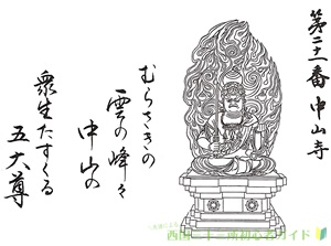 中山寺の御朱印(近畿三十六不動尊霊場)